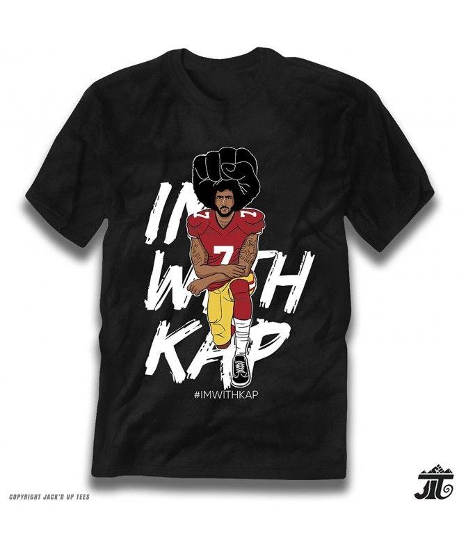 267be1593 IMWITHKAP Colin Kaepernick Kneeling Premium T-Shirt - Black -  C2187XSRXHU