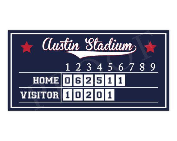 Baseball Scoreboard Baseball Birthday Baseball by paigesimple