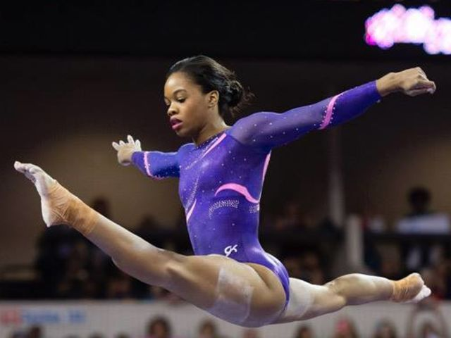 """Gabrielle Douglas  I took the """"Who is your gymnast styles twin?"""" quiz   and i got Gabrielle Douglas. :)  Who is your?  find out at: http://www.playbuzz.com/ncaagg10/who-is-your-gymnastics-style-twin"""