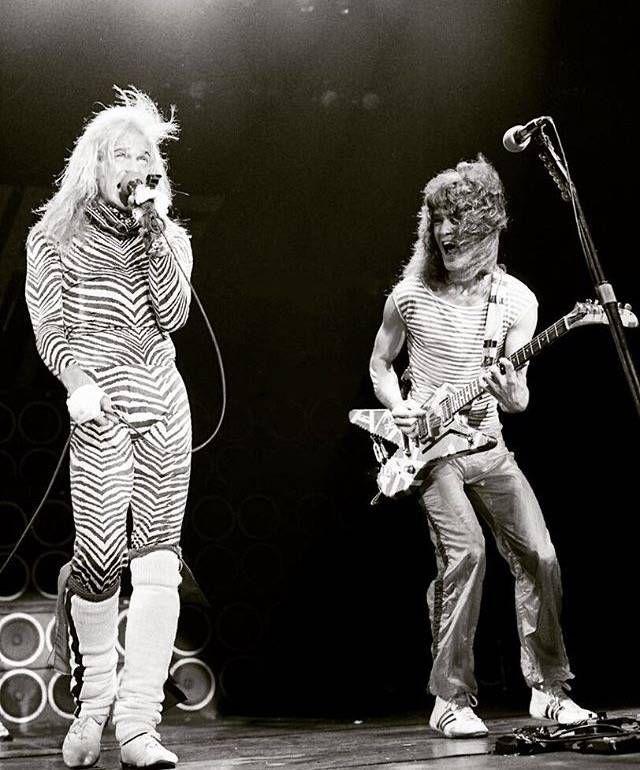 Edward Van Halen and David Lee Roth                                                                                                                                                                                 More