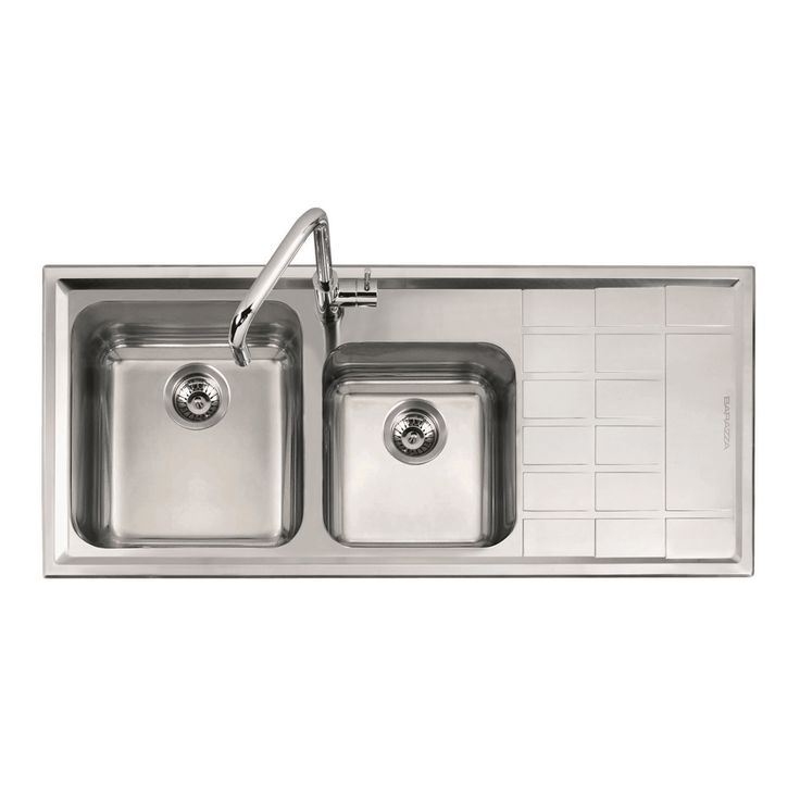 Abey 1.75 Square Right Hand Bowl With Drainer Stainless Steel Sink