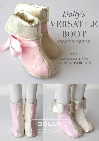 DOLLY by Le Petit Tom ® BABY  BOOTS 9boot pink/beige Ltd.