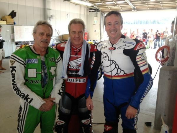 Kork, Wayne, Freddie  Suzuka Circuit 50th Anniversary Day