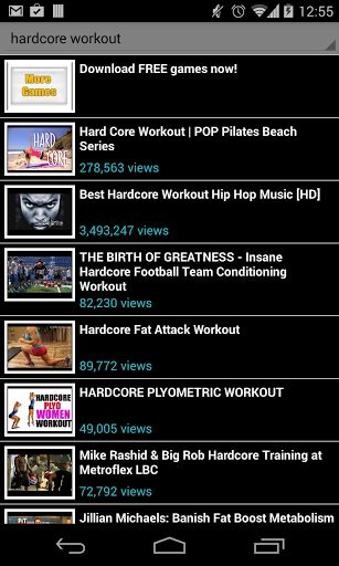 hardcore workout!<br>No gym to go to? no problem, hardcore workout is your own personal trainer, anywhere, any time. Get in shape, fast following any of the available videos in this app. No place and time limitations, exercise at home and feel good about
