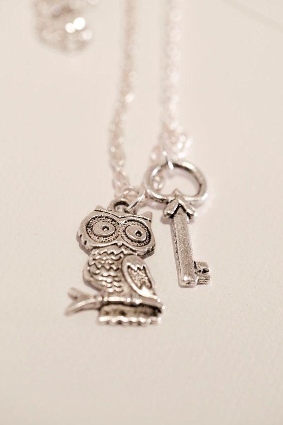 Owl & Key Pendant