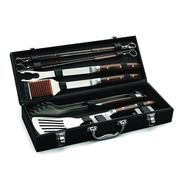Cuisinart Premium 10-Piece Grilling Set with Leather Storage Case-CGS-2010 - The…