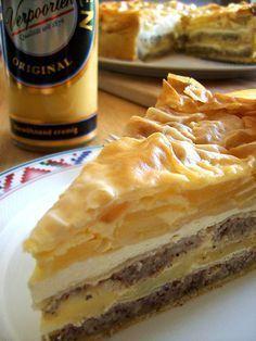 Eierlikör Rezept: geschichtete Apfel-Nuss-Torte mit Verpoorten Original Eierlikör - Backrezepte - VERPOORTEN