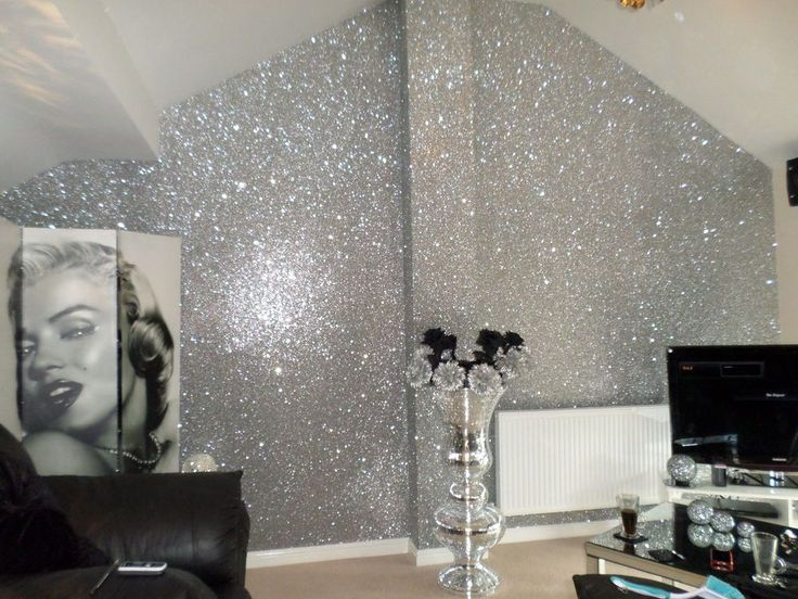 *SAMPLE* Premium Glitter Fabric Wallpaper Black, Gold, Pink, Silver & Grey