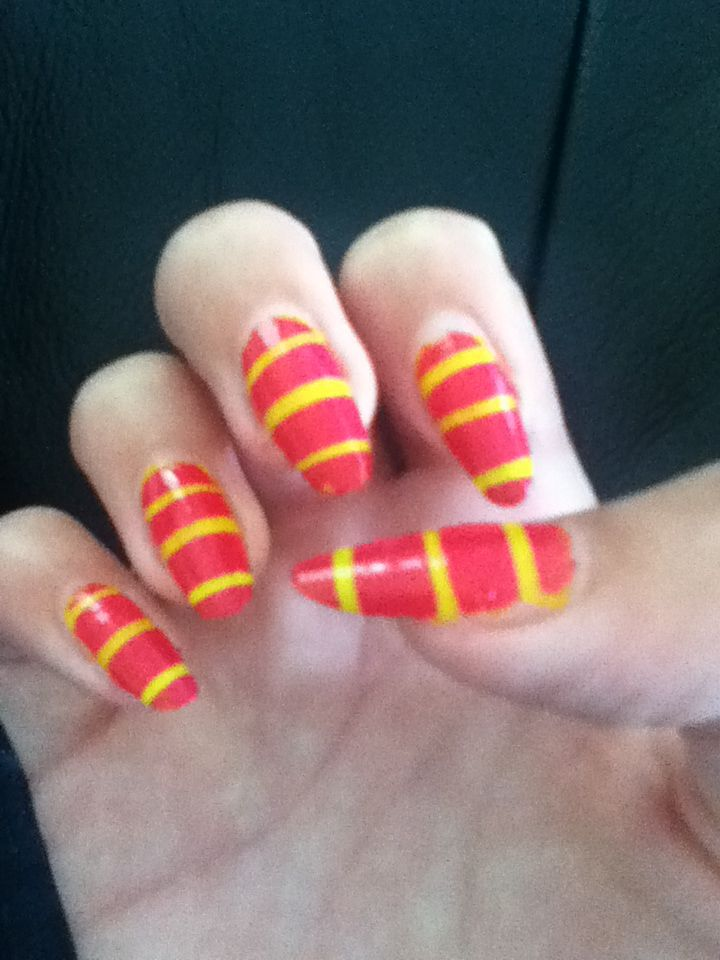 Gestreepte nagels