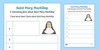 5 Facts About Saint Mary MacKillop Activity Sheet-Australia
