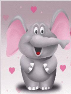 Fondo animado Elefante Amoroso.