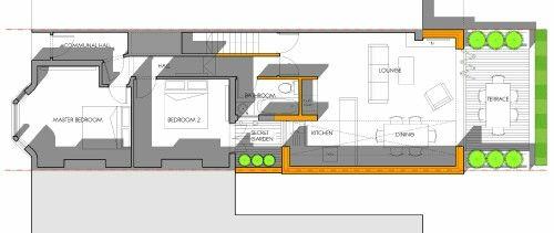Side return kitchen floorplan