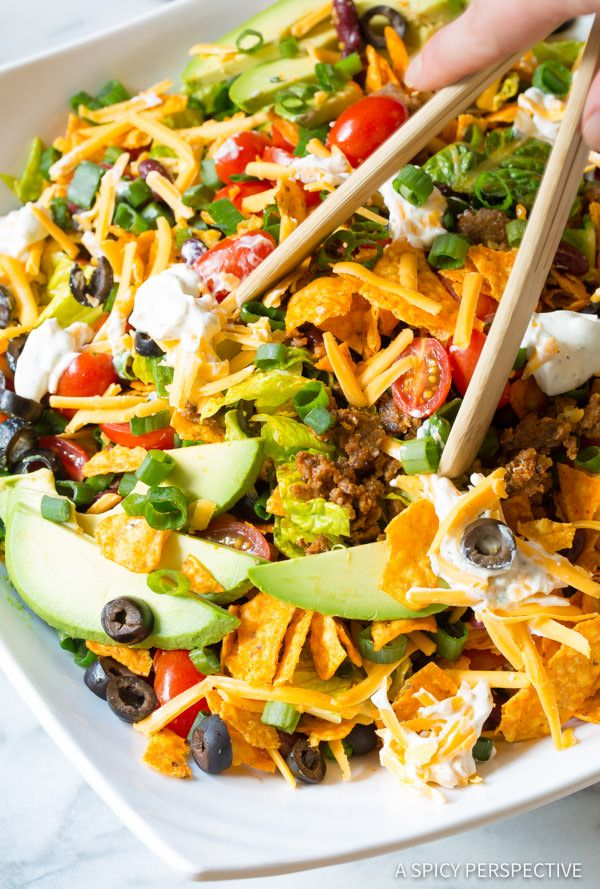 Try this Ultimate Dorito Taco Salad Recipe | ASpicyPerspective.com