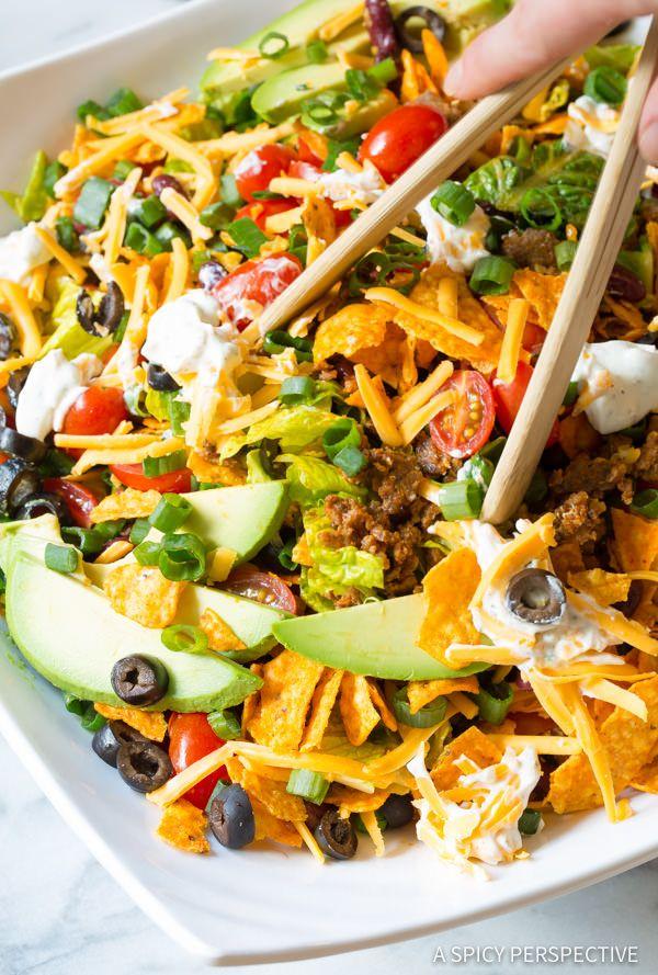Try this Ultimate Dorito Taco Salad Recipe | ASpicyPerspective.com