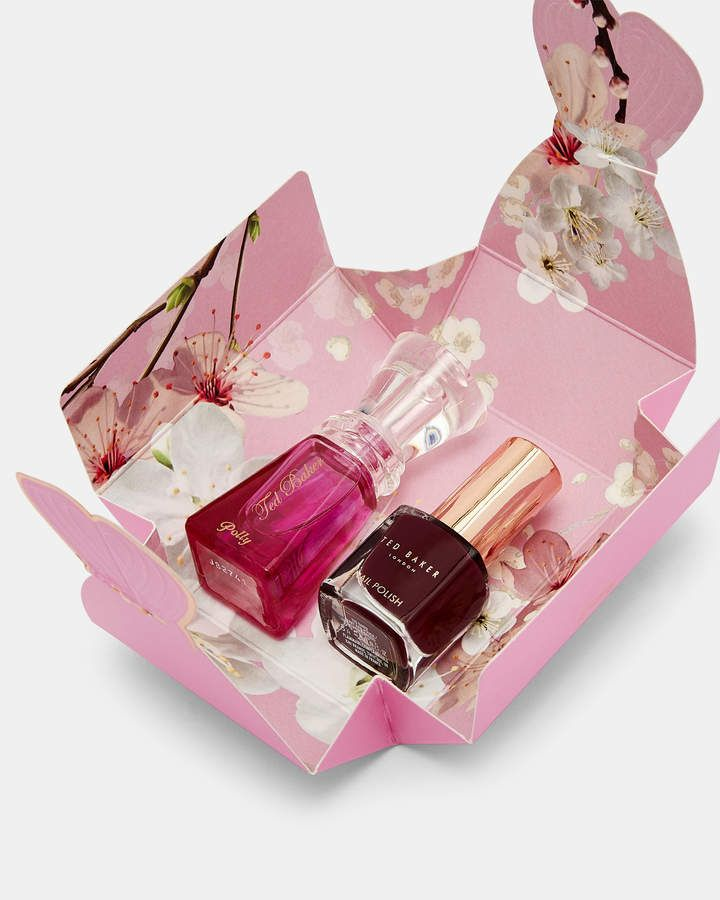 1fc85809f623 Details  Ted Baker accessories collection 5ml eau de toilette 5ml nail  polish Come in a Ted Baker-branded bow box Care   Fabric  Fabric ...