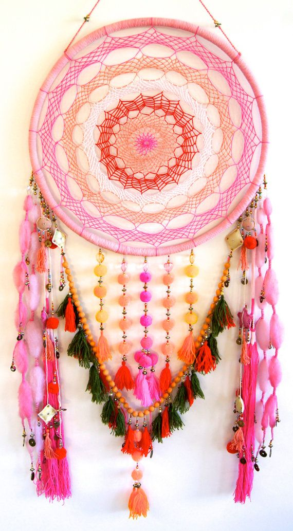 rOversized Colourful Dreamcatcher by Golden Dreamers on Etsy
