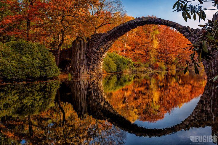 Rakotzbrücke, Kromlauer Park, Sachsen