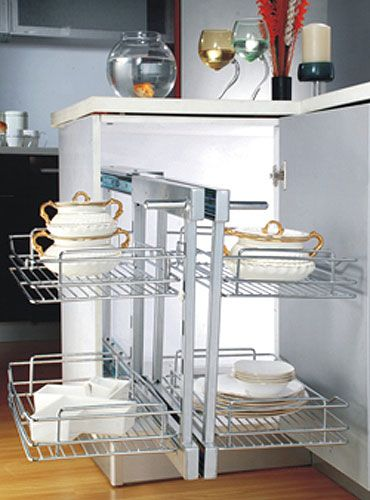 Magic Corner-Double Pull Out Great Utilization of corner space in kitchen with Inox MAGIC CORNER UNITS