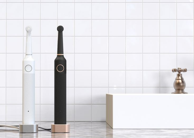 "Startup electronics brand Bruzzoni Global has designed a minimal electric toothbrush as an alternative to ""ugly"" bathroom accessories"