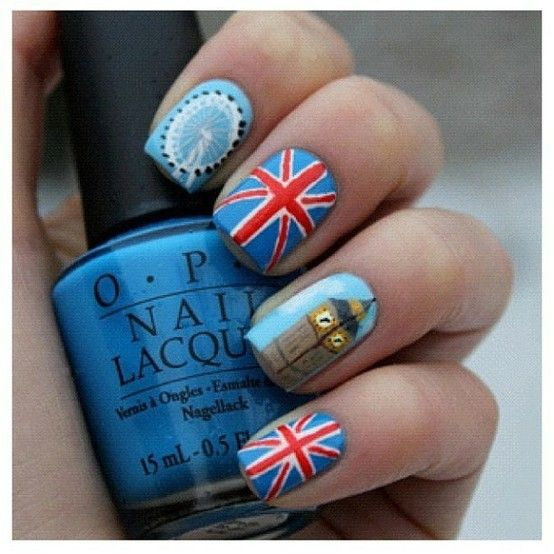Check Out This Super Cool London + Olympic-Inspired Nail Art!: Girls in the Beauty Department: Beauty: glamour.com