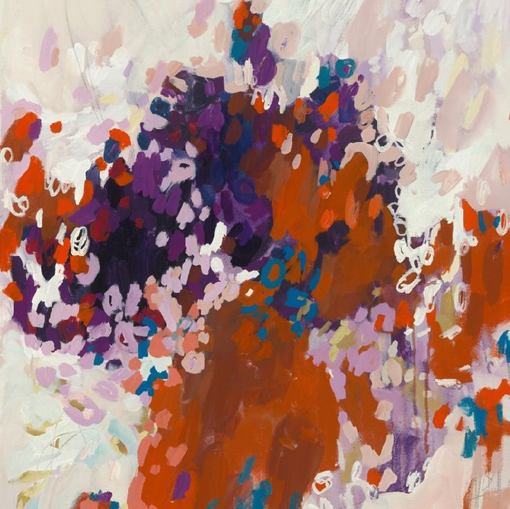 Michelle Armas print, orange, purple