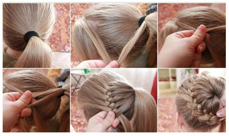Braid around pony tail