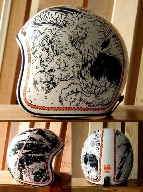 Ooooh would it be cool to have original artwork on a helmet.