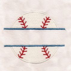 This free embroidery design is a baseball.