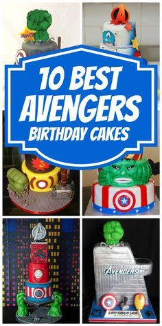 Check out these 10 BEST Avengers Birthday Cakes on www.prettymyparty.com.