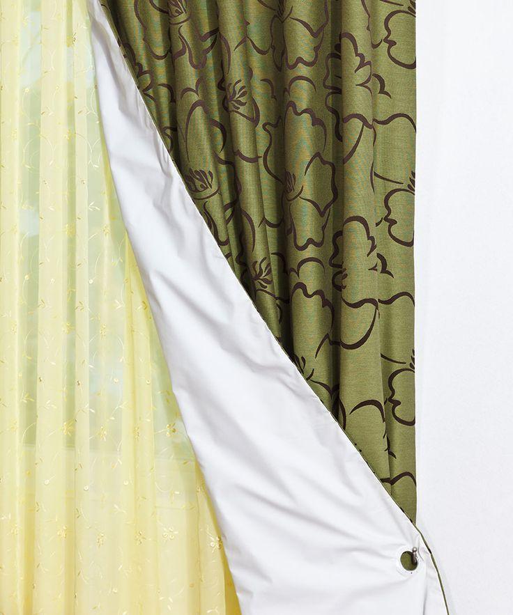 Se foloseşte ca şi strat adiţional la draperiile mai subţiri, deoarece le asigură opacitate, este un foarte bun izolator termic şi protejează împotriva razelor solare puternice.