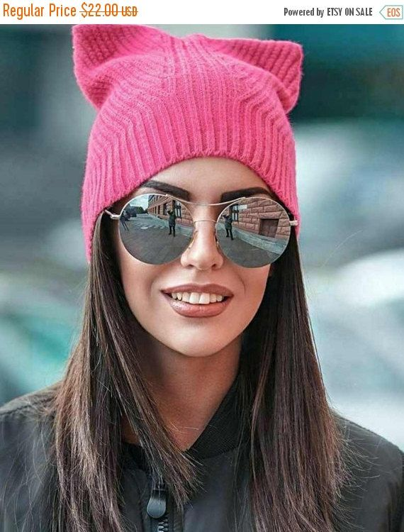 15% off Spring cat hat pink pussyhat pussyhat cat ears by HatsCats