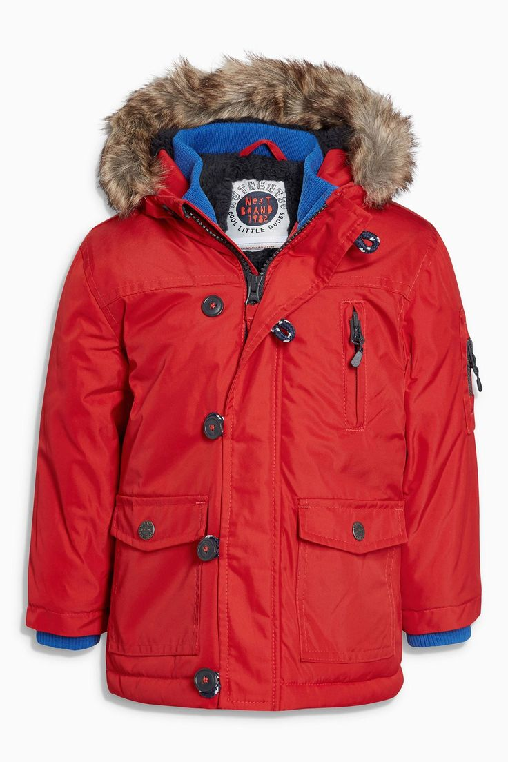 Buy Red Parka Jacket 3mths 6yrs From The Next Uk Online Shop [ 1104 x 736 Pixel ]
