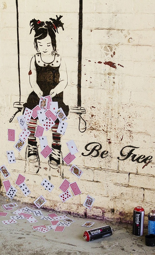 Be Free Melbourne Paste Up Artist