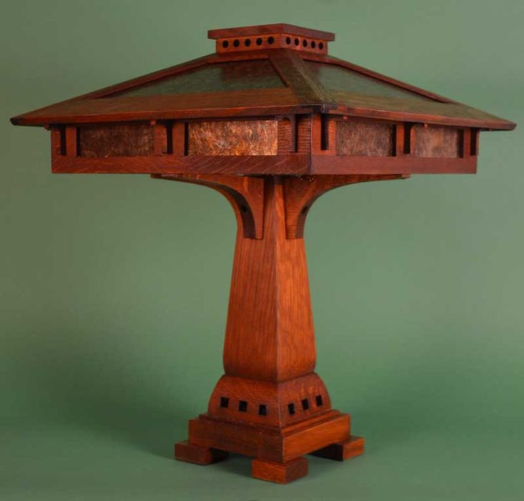 Mission Arts and Crafts Prairie Craftsman Table Lamp with Mica Shade Panels by RagsdaleLighting on Etsy https://www.etsy.com/listing/202624288/mission-arts-and-crafts-prairie