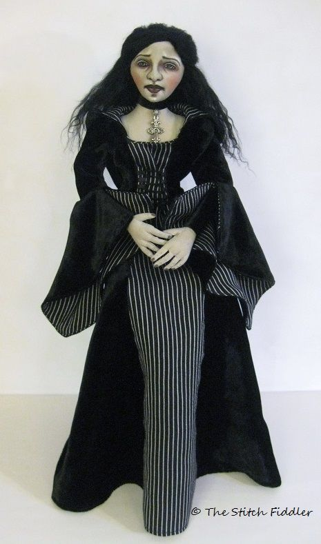 ~The Stitch Fiddler~ Medieval Cloth Art Doll made by Bethann Scott.