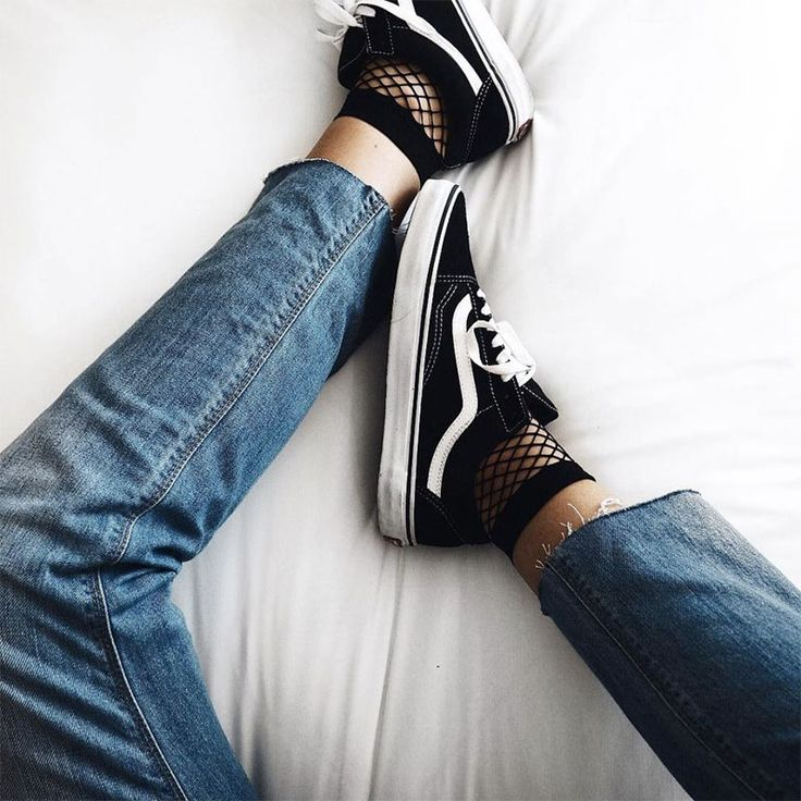 Sneakers women - Vans and fishnet