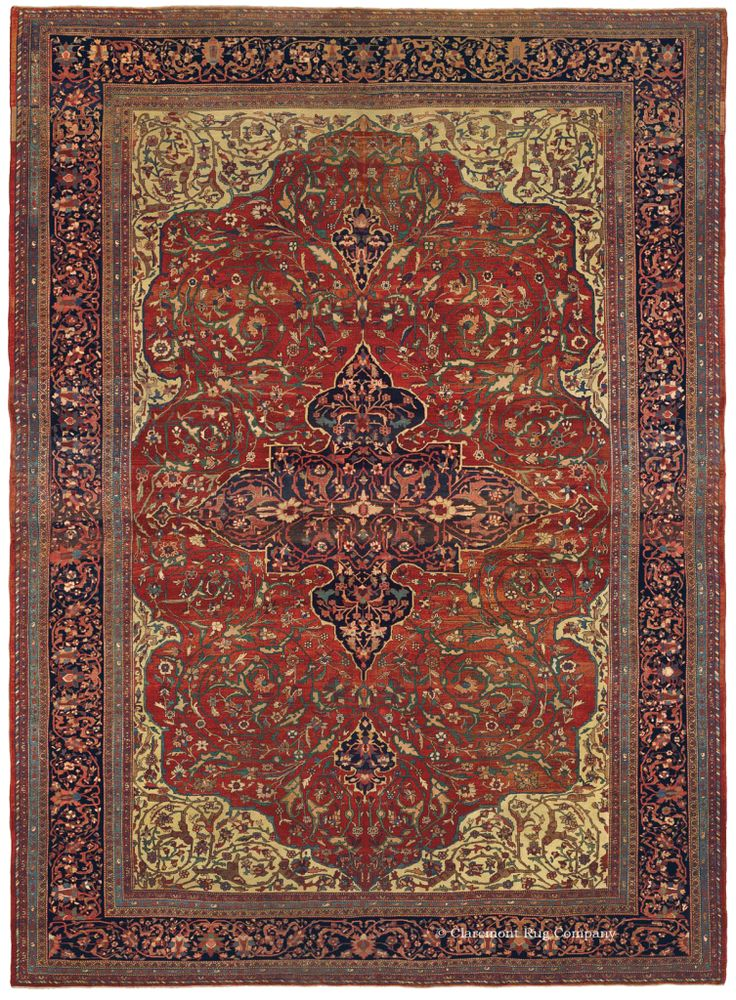 FERAHAN SAROUK, West Central Persian 10ft 3in X 14ft 1in Circa 1875