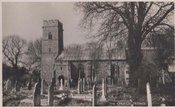 Trowse Church Norfolk Village Postcard + 1960 Trowse Frank Postmark | eBay