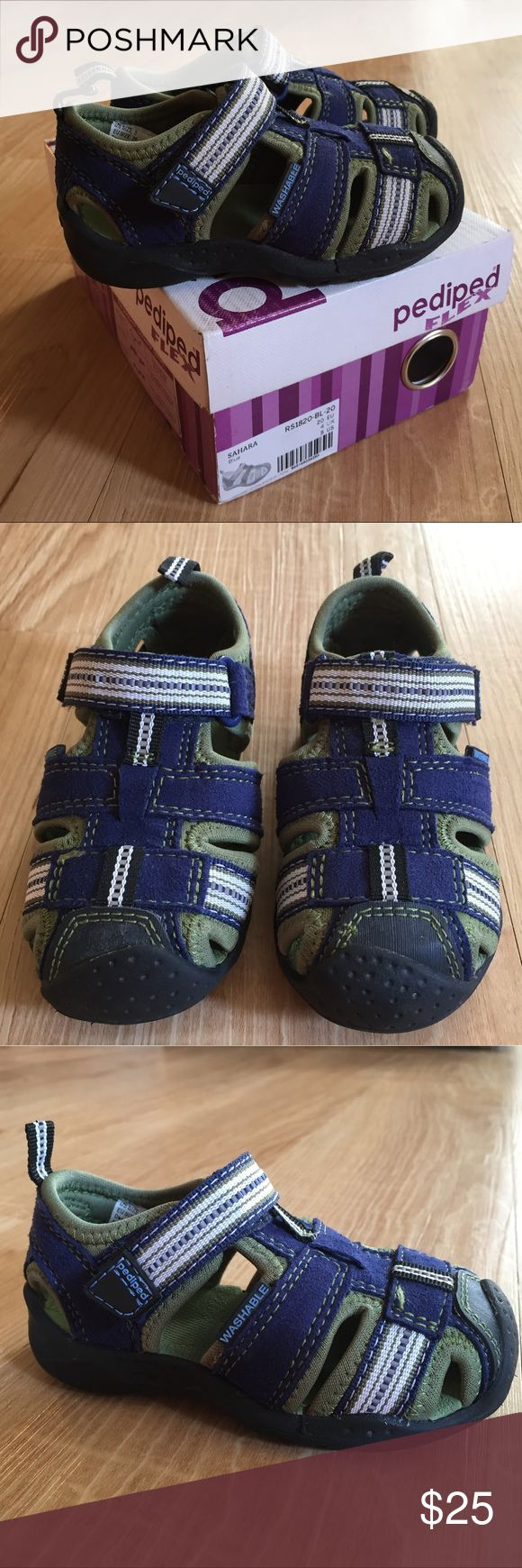 Pediped little boys Velcro closure sport sandals Nearly new (worn only twice) pediped sandals. European size 20. USA size 5. We have bought pediped shoes for all of our children through the years. They are a wonderful product and wear beautifully! pediped Shoes Sandals & Flip Flops