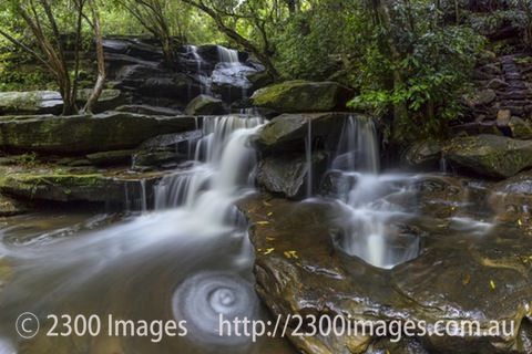Swirl at Somersby Falls - Swirl at Somersby Falls, Somersby, Central Coast, NSW, Australia after rain.
