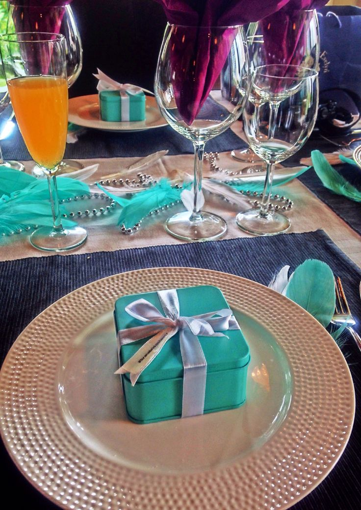 Tiffany blue theme & doorgift