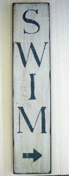 Swim sign