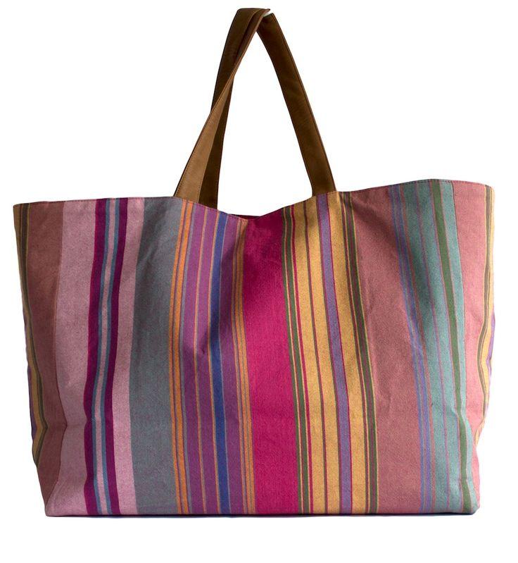 Multi Striped Pink Kikoy Bag #pinkpumbaa #socent www.pinkpumbaa.com