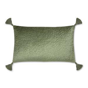 Little Vines Embroidered Velvet Cushion