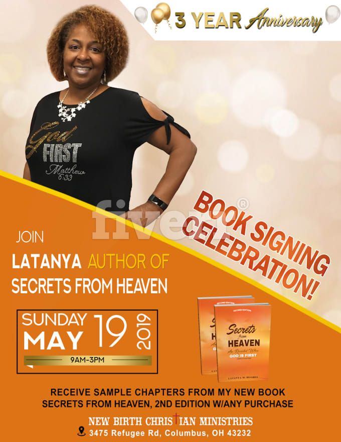 Ayaandesignz I Will Design Book Signing Book Launching Any Event Flyer Poster For 10 On Fiverr Com Book Launch Event Flyer Book Design