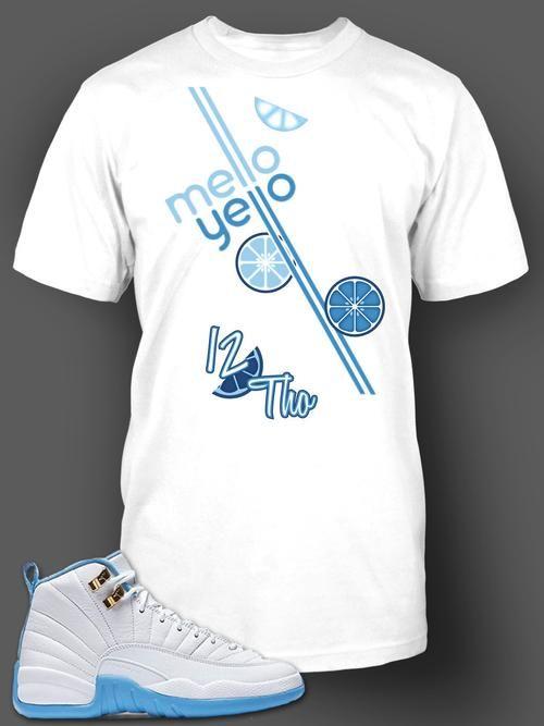 Womens T Shirt To Match Retro Air Jordan 12 Melo Shoe - Just Sneaker Tees -  1 6a1b89ef5f