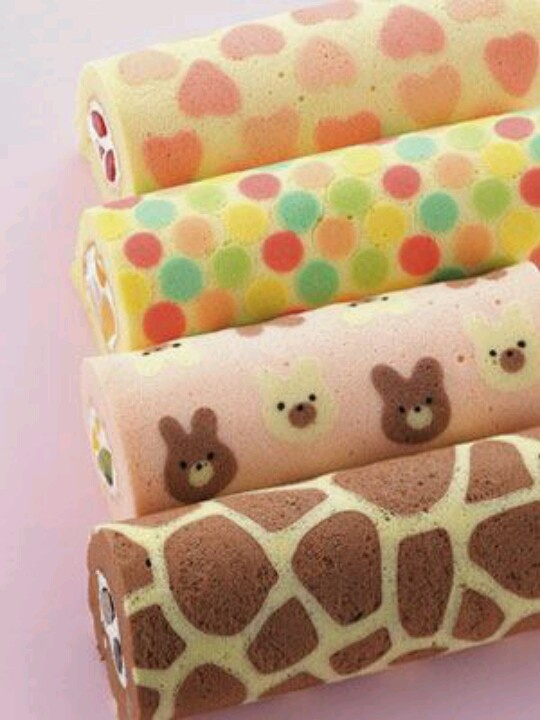 How amazing are these swiss roll style cakes from Rosie Cake Diva? Shop cake decorating and baking essentials at C&C: http://www.createandcraft.tv/baking/cake+decorating+equipment?icn=Cake_Decorating_Equipment&ici=Cake_Decorating_Equipment_Baking