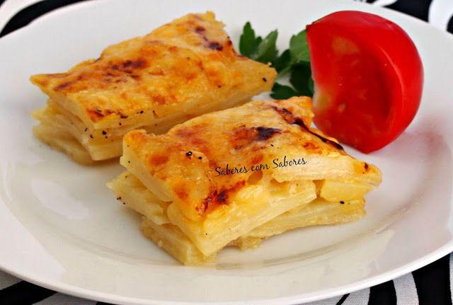 Saberes com Sabores: Tarte folhada de Carne com Batata Gratinada... um almoço singular !!