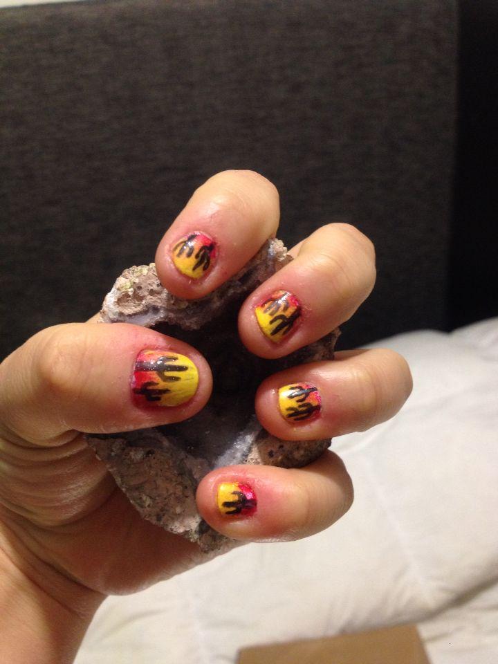 Cacti nails Uñas cactus