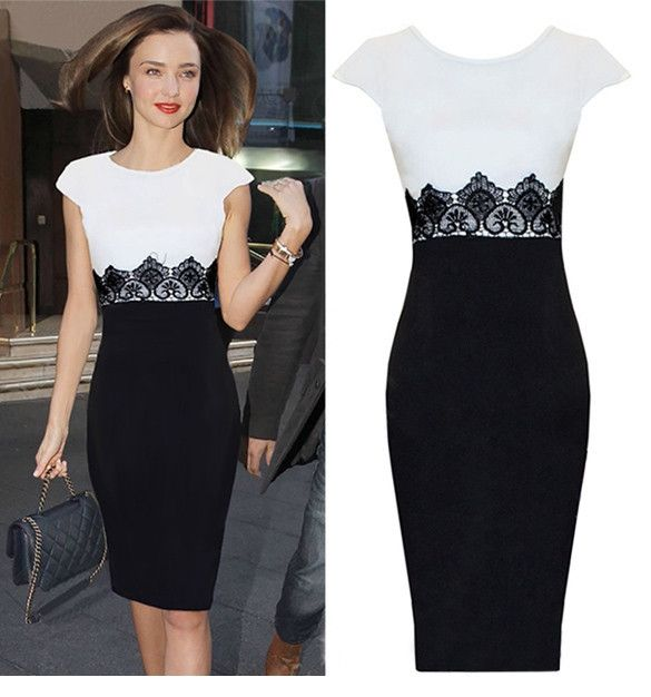 New Sexy Women Lace Stretch Clubwear Cocktail Evening Party Pencil Bodycon Dress